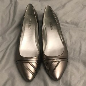 Brand new Kenneth Cole Reaction silver flats
